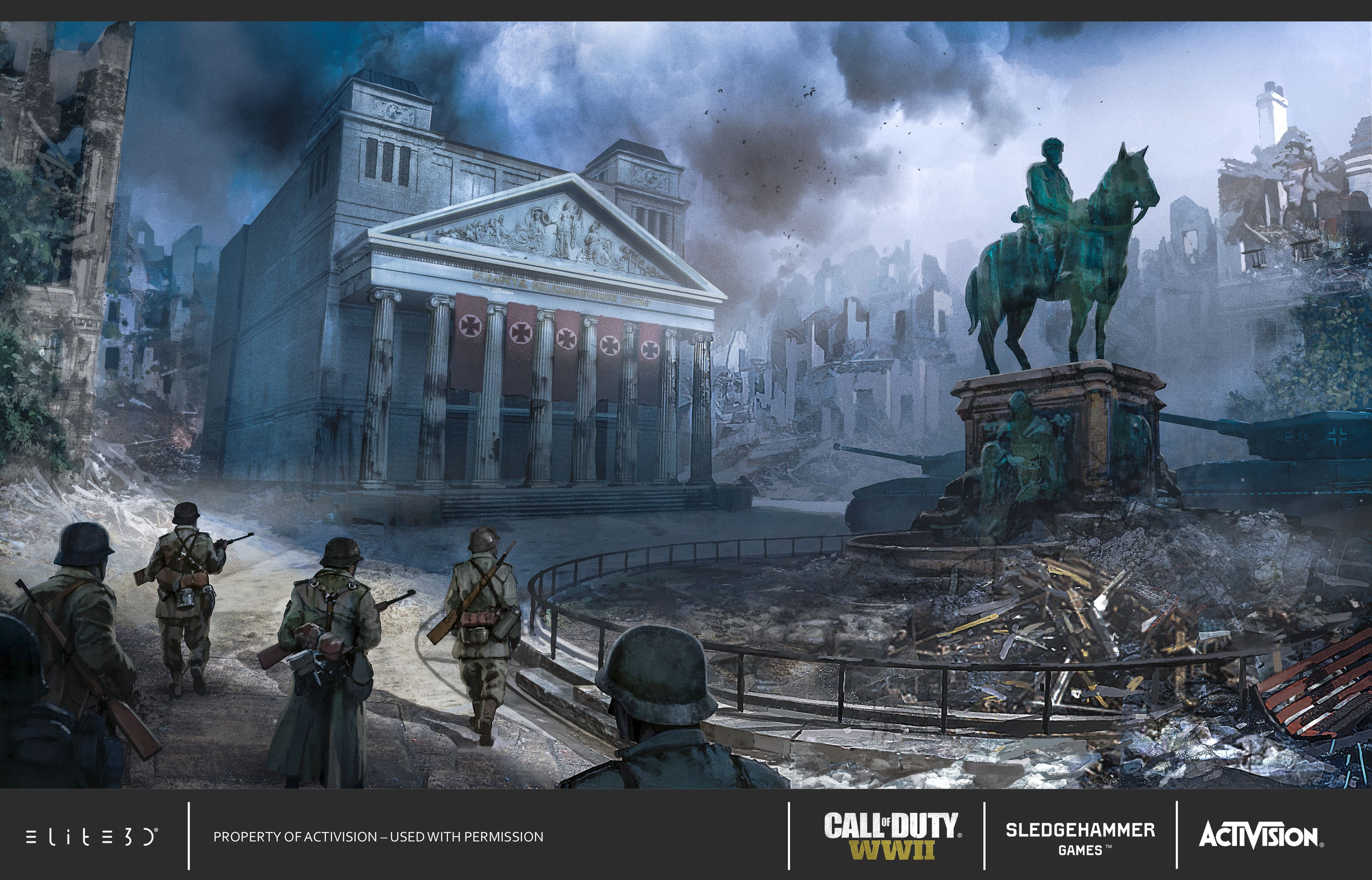 Call Of Duty: WWII Concept Art & Calling Cards | elite3d