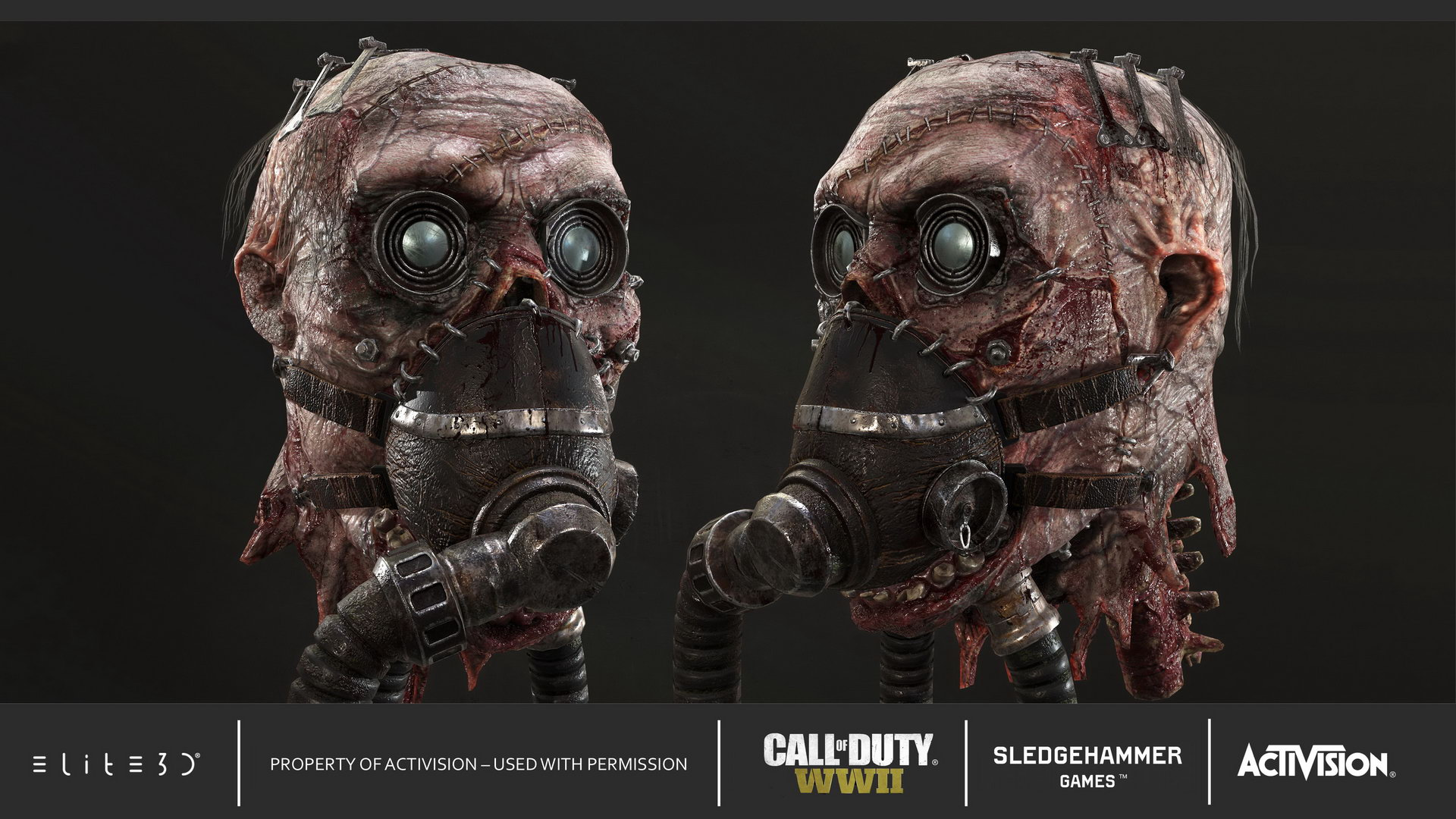 Call Of Duty Wwii Characters Zombie Mode Elite3d